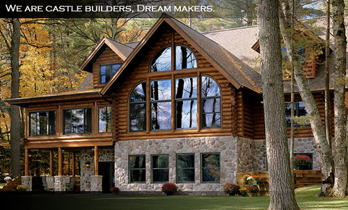 Awesome wooden homes  While the exterior of the home