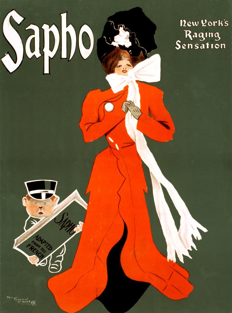 Sapho New Yorks raging sensation Broadway poster 1900