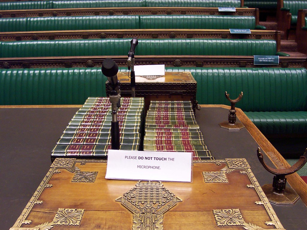 House of Commons Chamber Dispatch box  View from the