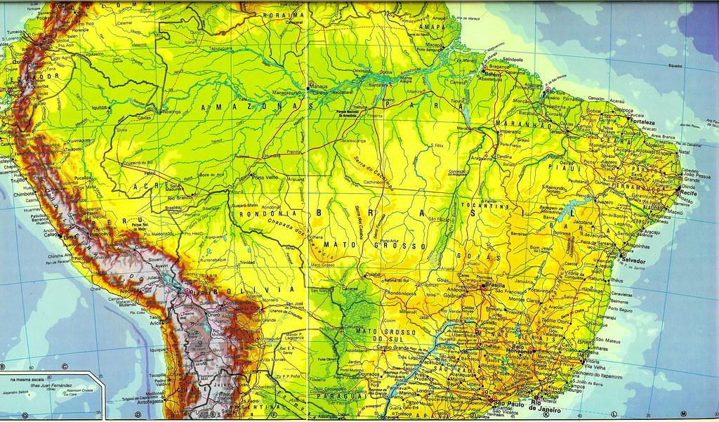 Mapa de Amrica del Sur Sudamrica  mapa da Amrica do