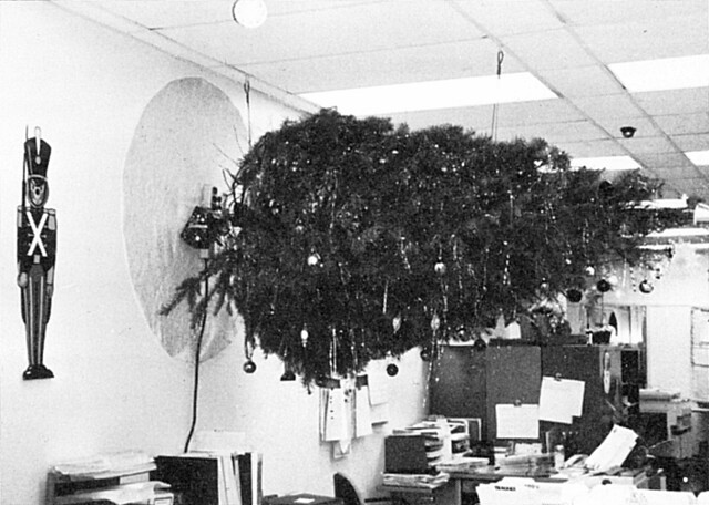 Sideways Christmas Tree 1989 Orange County Community