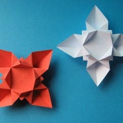 Star Flower Origami Diagram 2 Switch 1 Light Wiring Fiore O Stella Or Tecnica Con