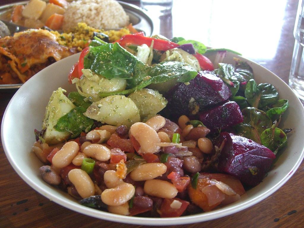 Mixed Bean Beetroot and Roasted Potato Salad  Salad Bow