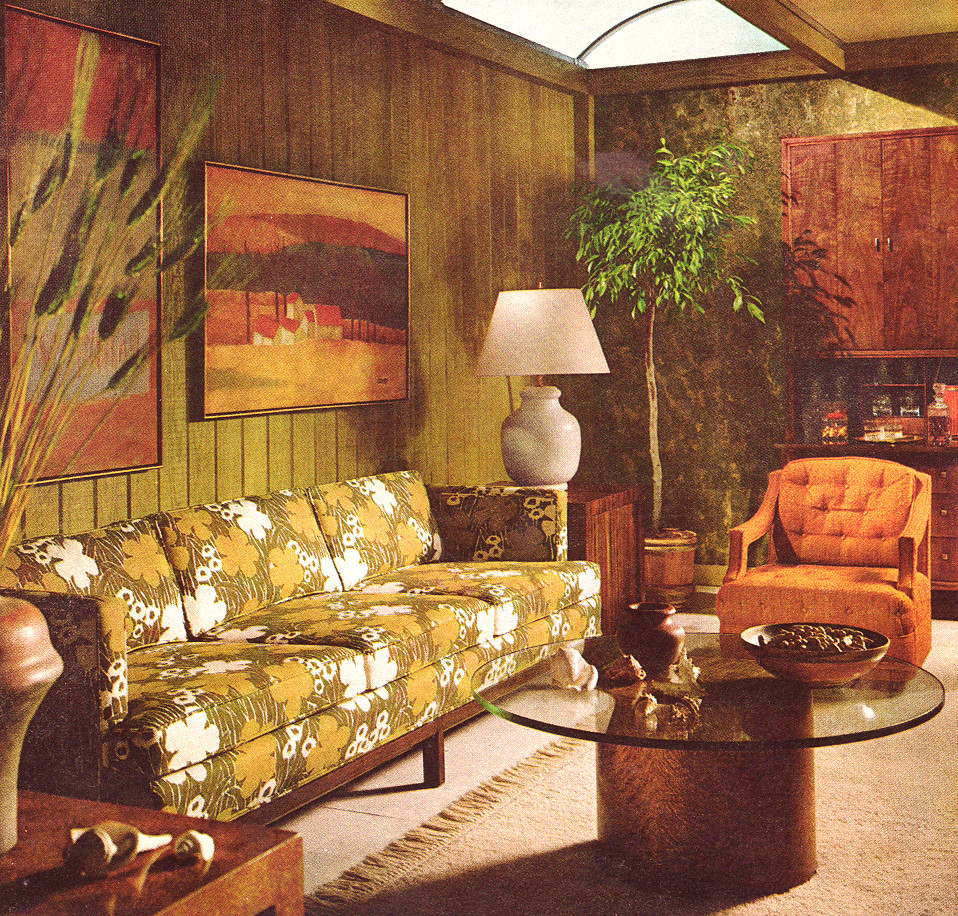 Vintage Living Room 1968  Found in Better Homes and