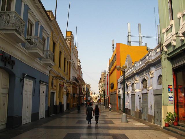 Jiron De La Uni 243 N Lima Peru The Famous Pedestrian