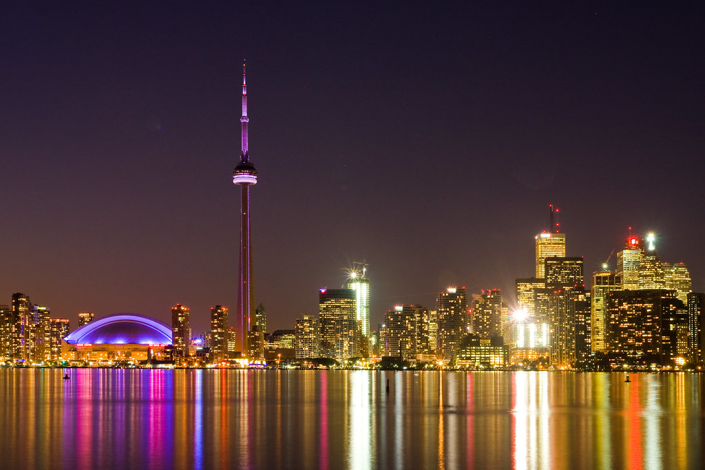 City Skyline Wallpaper Hd All Lit Up Toronto At Night This Should Be The Last