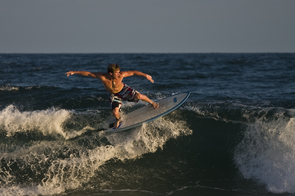 Surfing in the Gulf of Mexico