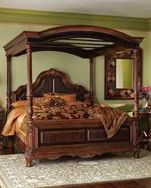 Handcarved mahogany bed frame  This beautiful piece was