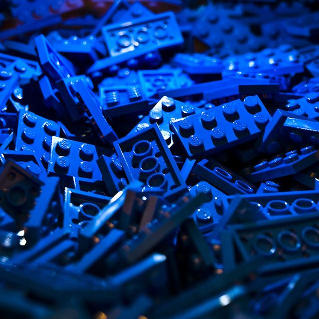 3d Wallpaper Blue Black Blue Flat Lego Bricks Steve Thomas Flickr