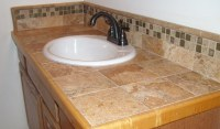 Bathroom Counter Remodel with Wood Trim and Epoxy Grout ...