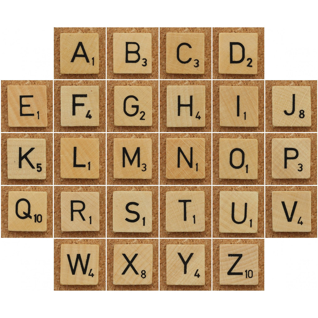 Wood Scrabble Tiles