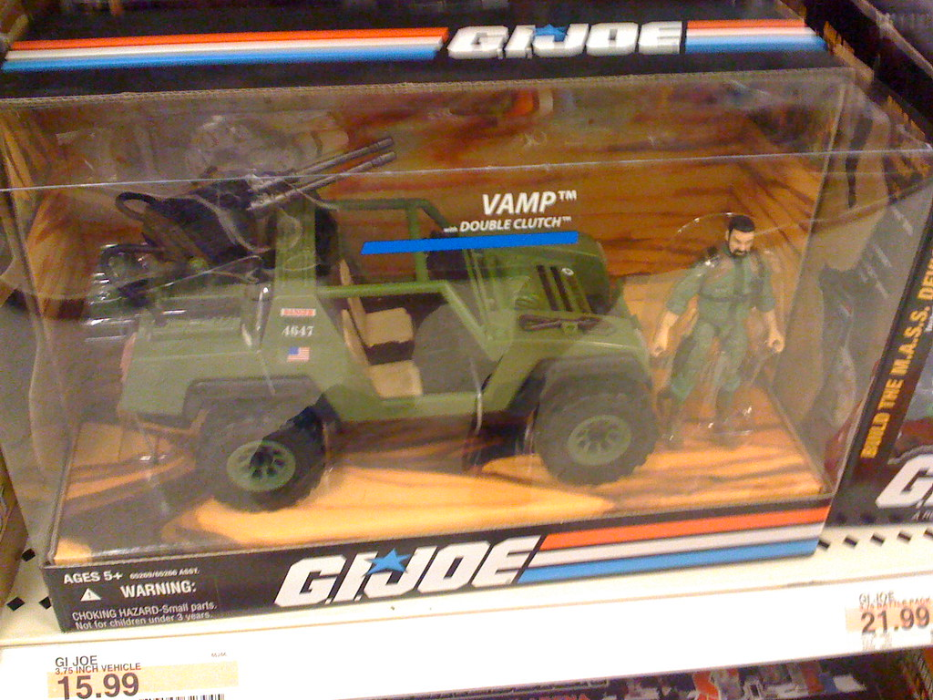 GI Joe toys at Target VAMP Jeep truck  These toy