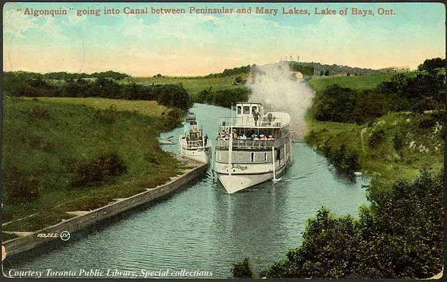 Steamship Algonquin going into Canal between Peninsular