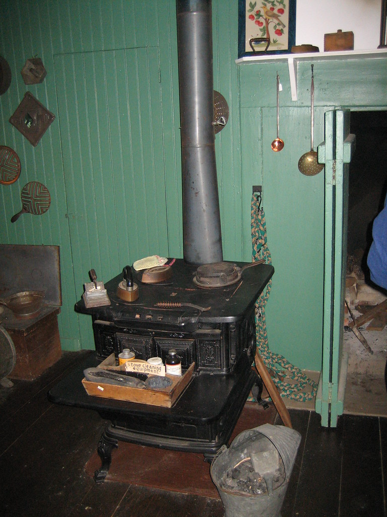 Midtolate 19th Century Kitchen Stove Next to Earlier Coo  Flickr