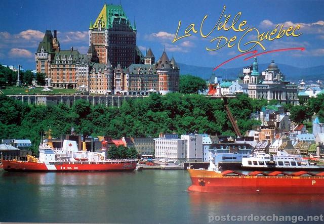 Postcard  Chateau Frontenac  La Ville de Quebec  postcard  Flickr