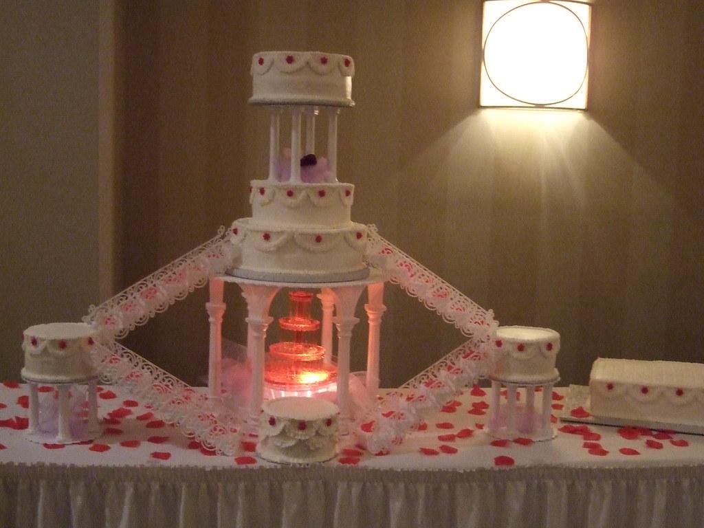 Cascading Waterfall Wedding Cake  This brides cake boasts   Flickr