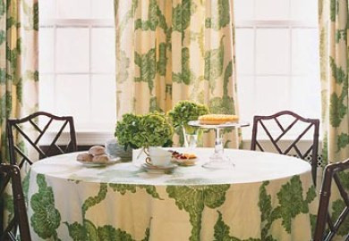 Kitchen Curtains And Matching Tablecloth