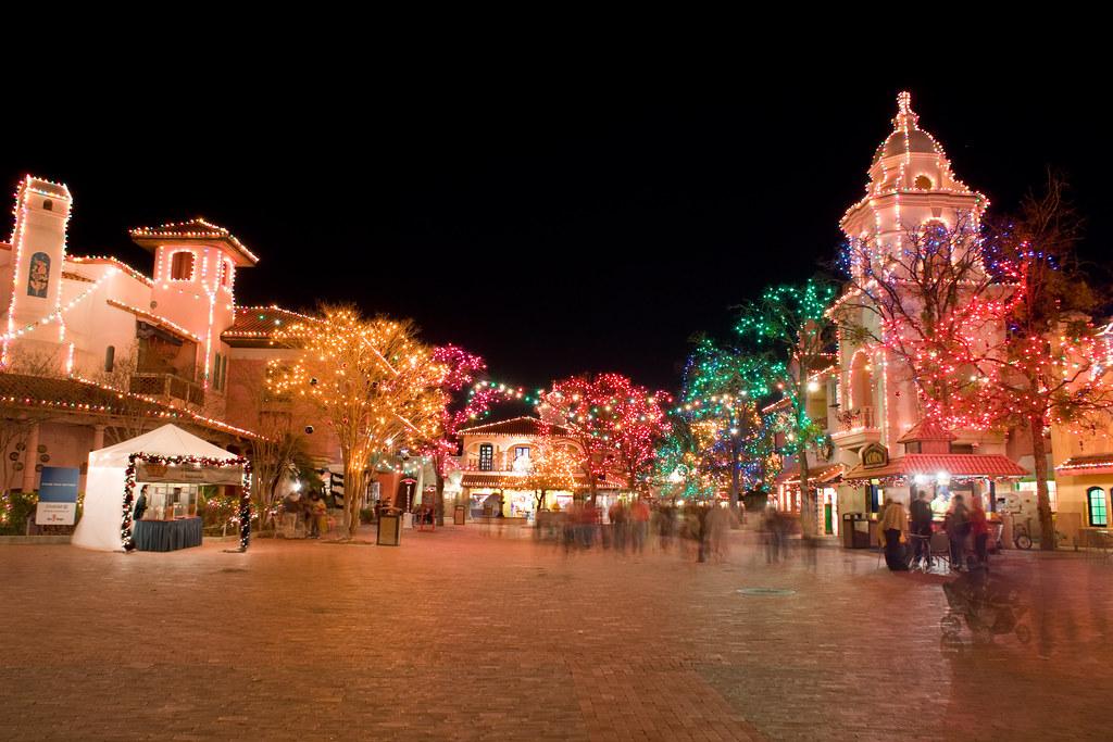 Fiesta Texas Christmas lights  HDR image blended manually