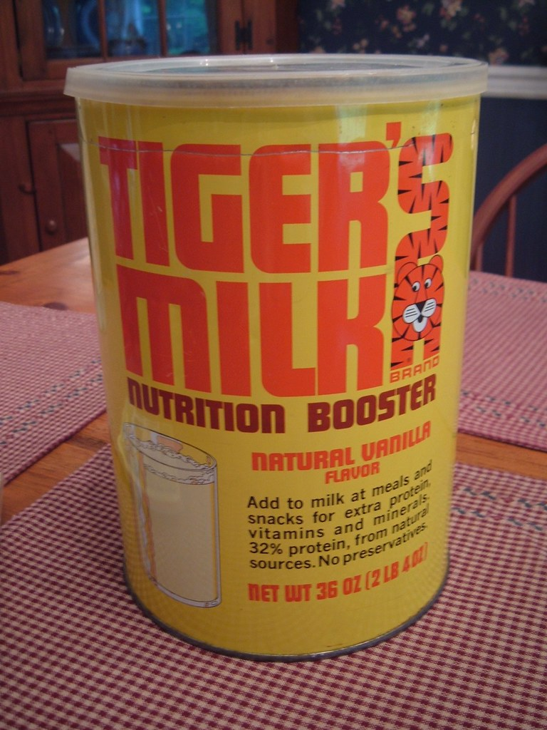 1972 Tigers Milk Tin  This is a huge tin measures 9 high