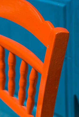 Orange chair  Taken at Amoudi Harbour Santorini I love