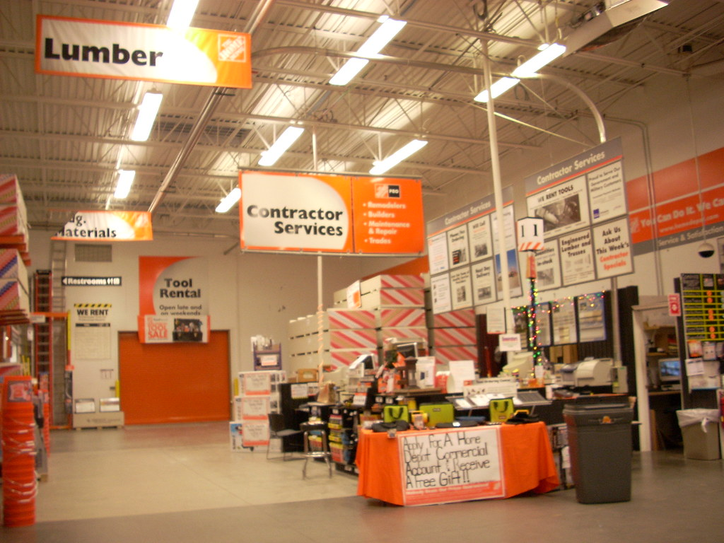 Home Depot interior  Home Depot 4650 104911 square