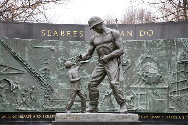 Seabees Memorial  Along Memorial Drive near the Arlington