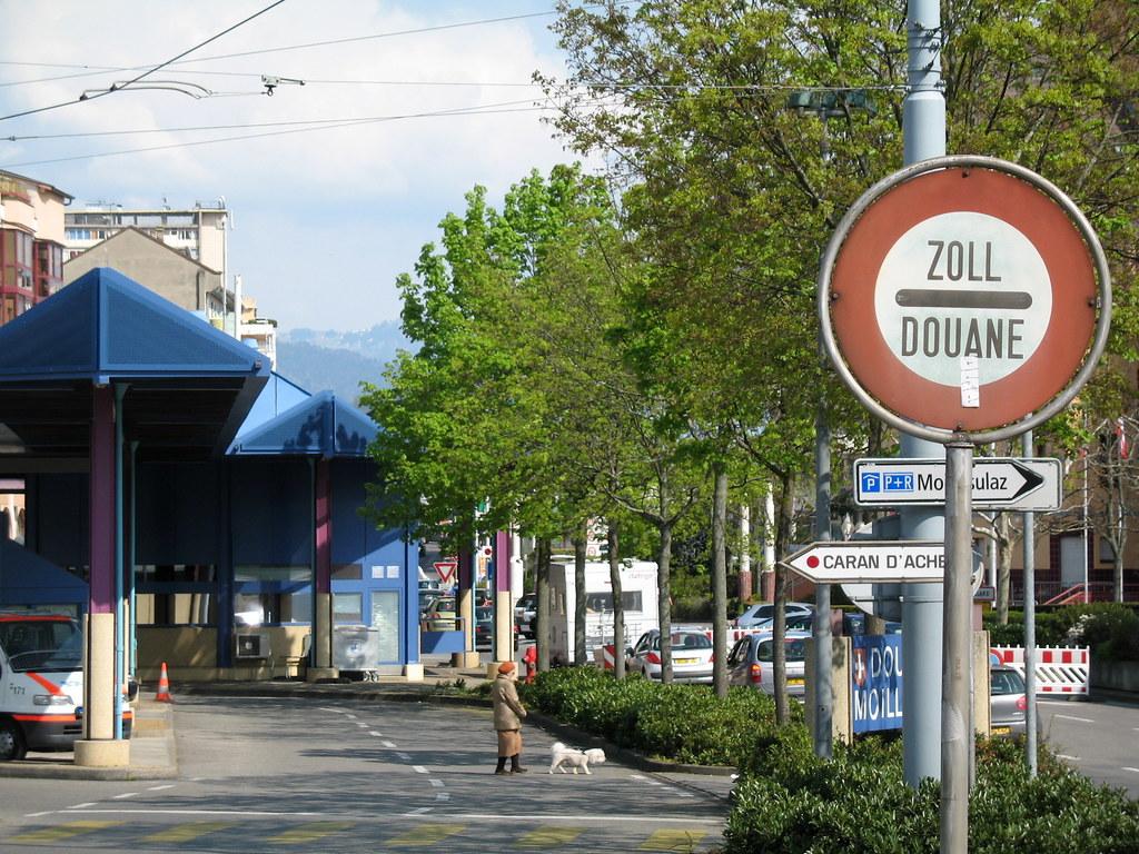 Frontire FrancoSuisse Grenze SchweizFrankreich  Flickr