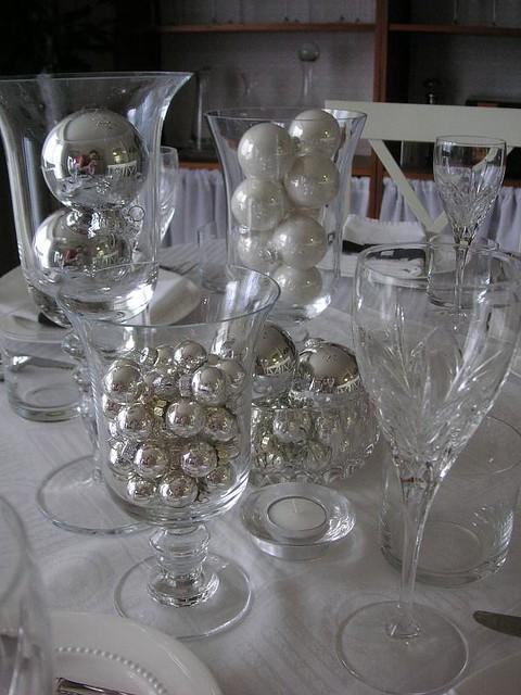 Black White Silver Table Setting Stephanie Flickr