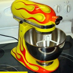 Kitchen Aid Pro Hanging Lights In Kitchenaid Mixer With Flames | Alton Brown Eat Your Heart ...