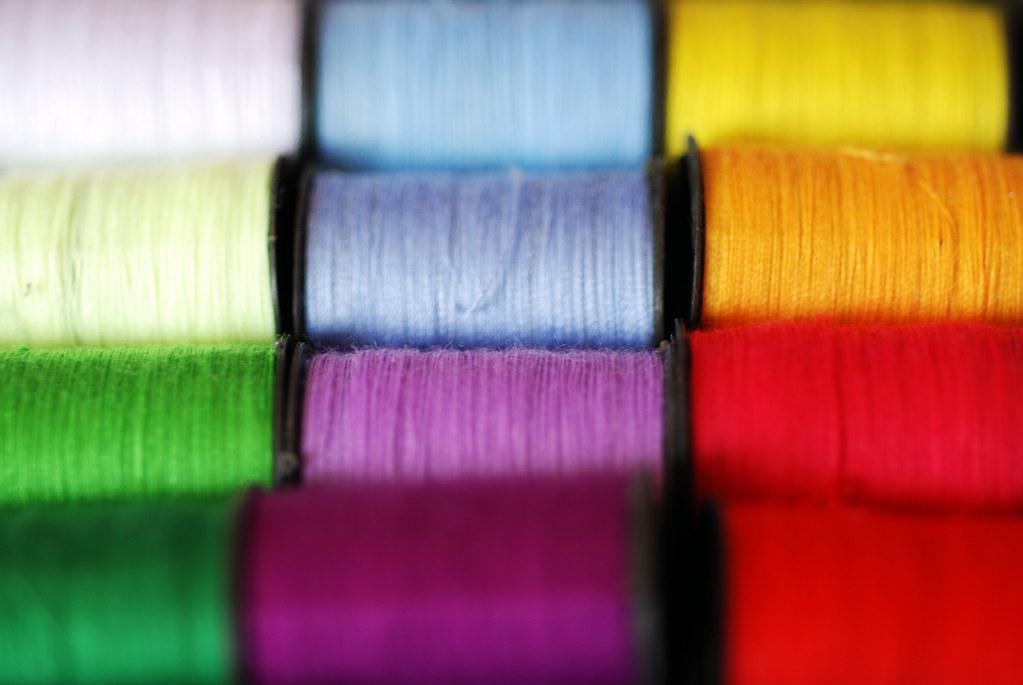 Colourful Cotton Thread  Colourful spools of bright