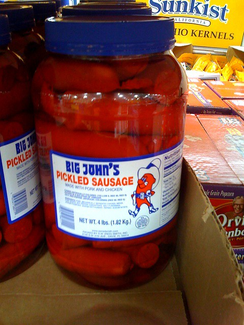 Pickled Sausage @ Costco   Thank god they had the big size ...
