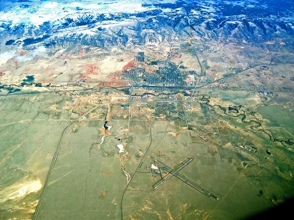 Laramie Wyoming  Flight UA CalgaryDenver Coordinates