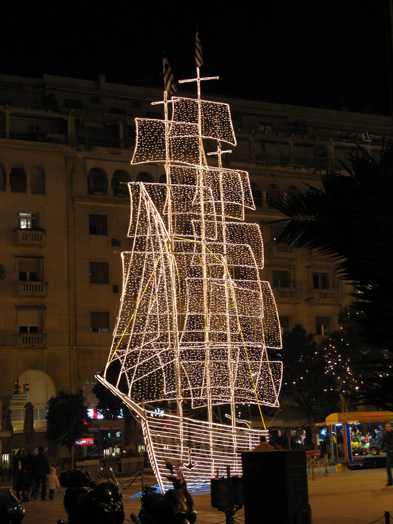 Thessalonikis X Mas Boat In Greece It Is Traditional To