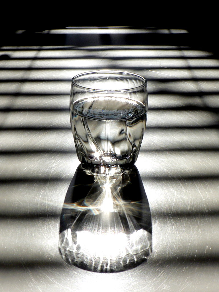 Glass  Water  Light  Shadow  Sunlight through the