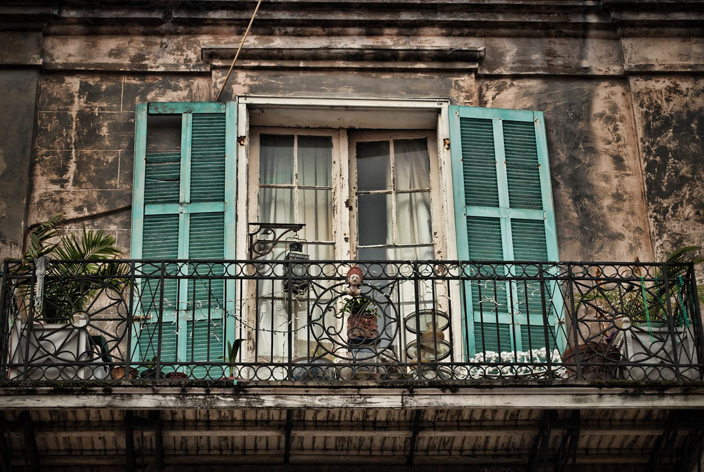 New Orleans Balcony  I loved this balcony that I stumbled