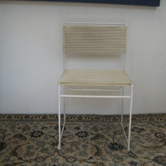 String Chair Seat Haworth Office Chairs Modern White Height 17 5in Vinyl