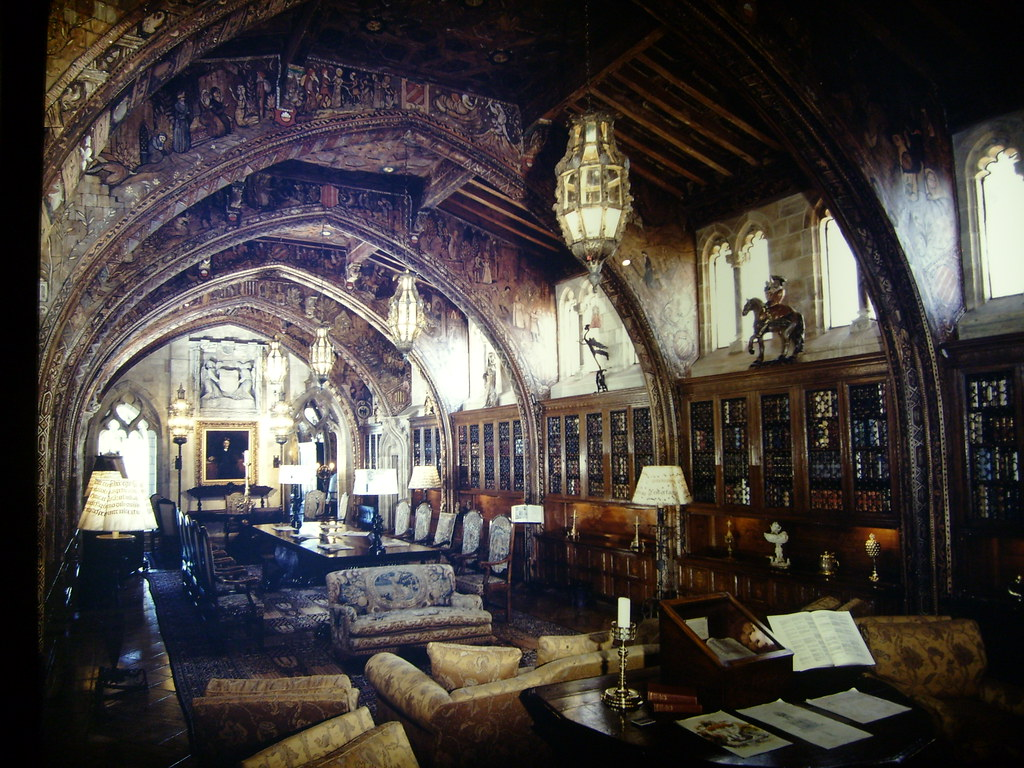 Hearst Castle Library  remarkably similar to my library