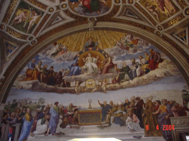 Raphaels The Disputation on the Holy Sacrament Sistine C