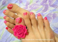 peppermint candies on my toe nails | my own nails UV gel ...