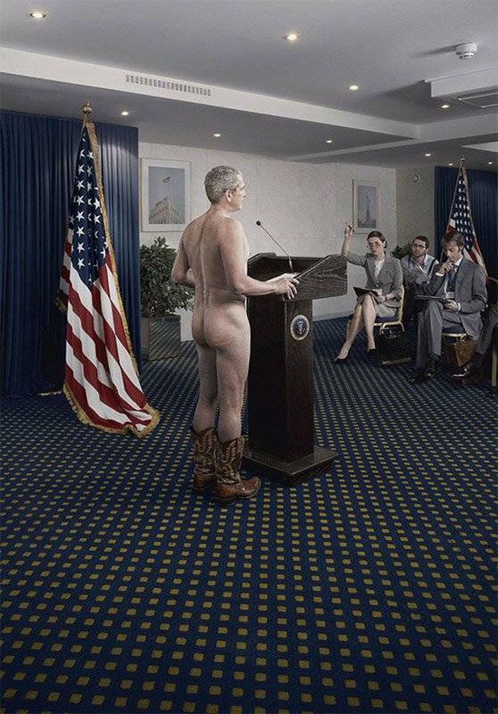 George W Bush Naked Cowboy  Apparently New york doesnt