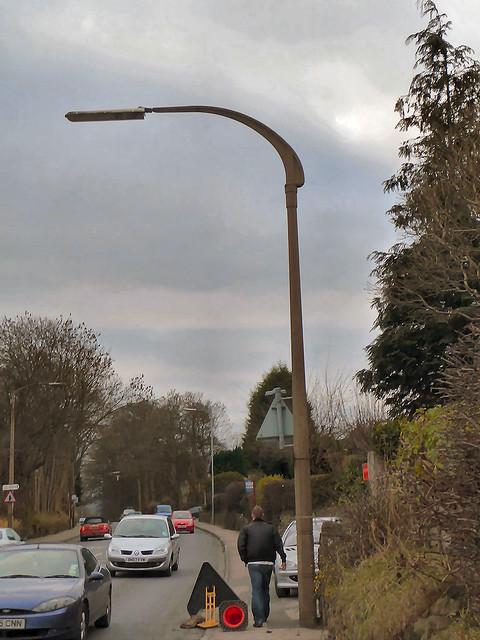 Otley Road Baildon W Yorkshire  old street lamp column