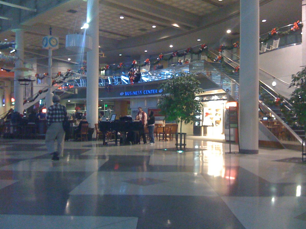 Piano player at Charlotte Douglas airport  Charlotte is