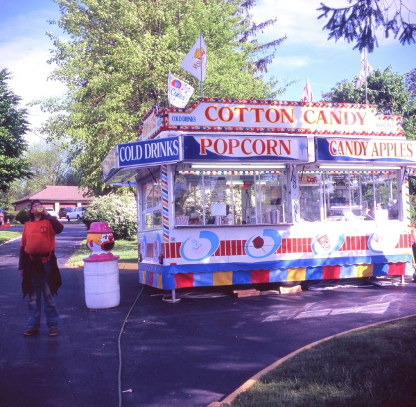 Cotton Candy Stand Snack Church Carnival Meleager