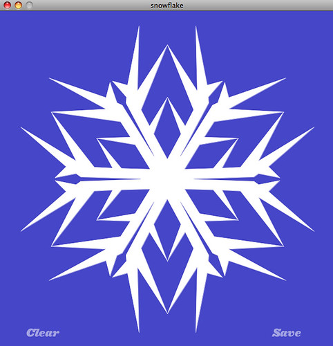Another snowflake  Screenshot from our new opensource