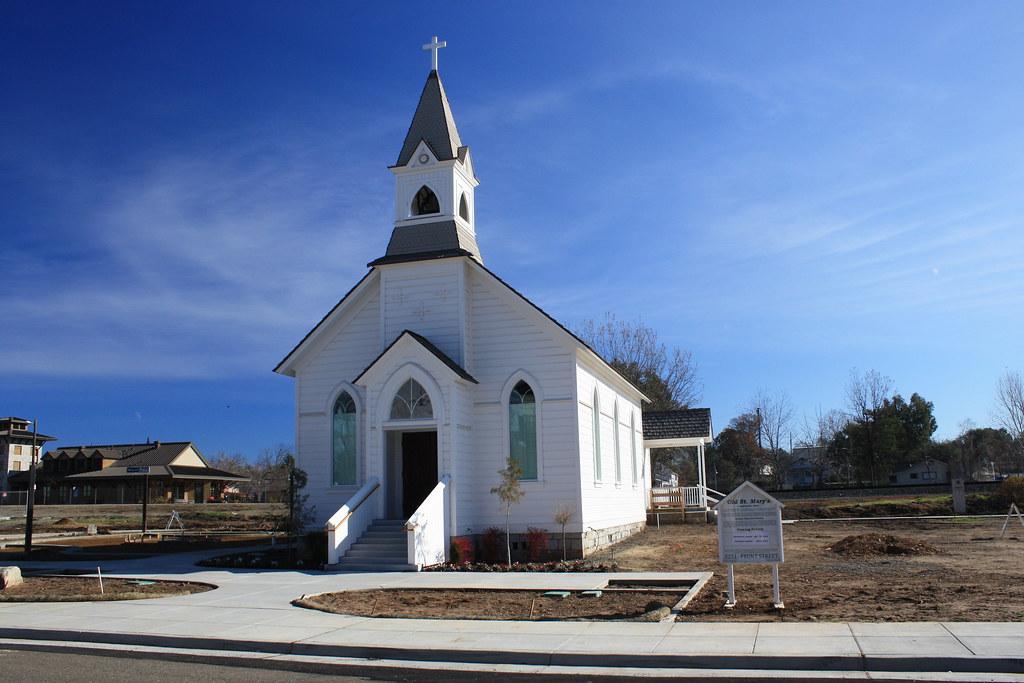 Old Saint Marys Church in Rocklin CA  Rocklin Catholics
