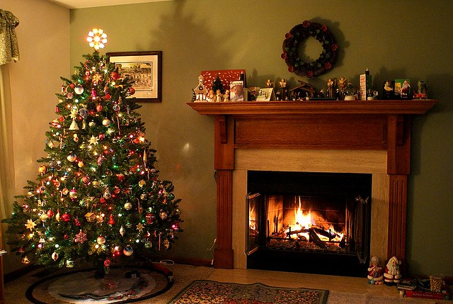 Christmas Tree and Fire in January  Sony A200  Well the C  Flickr