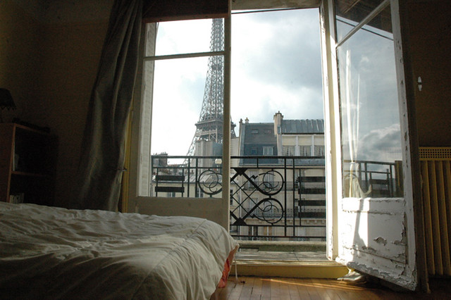 7me Parisian Apartment  View of Eiffel Tower from inside