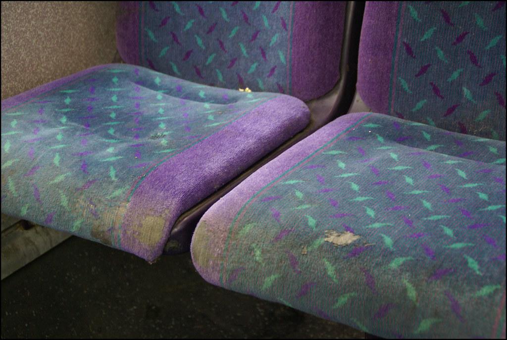 Dirty Seats London Bus January 2009  Dirty seats on a
