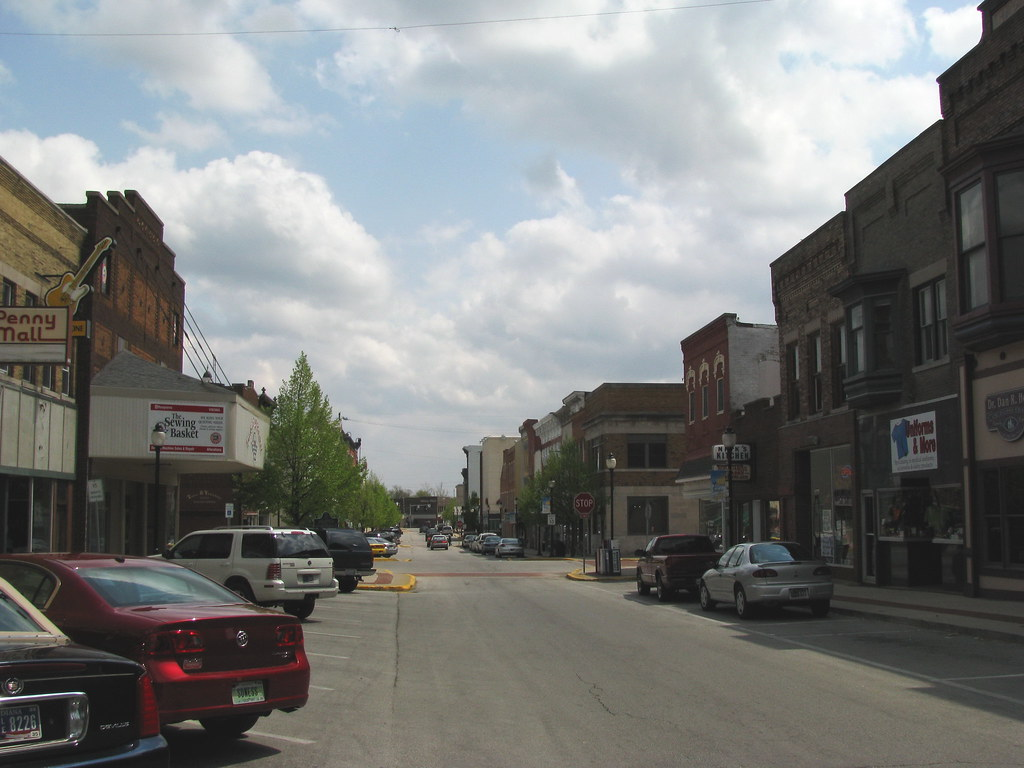 my first real taste of small town Main Street  The first