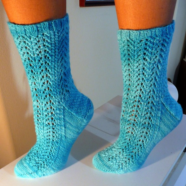 Gull Wing Lace Feet Shibui Sock Yarn In Sky